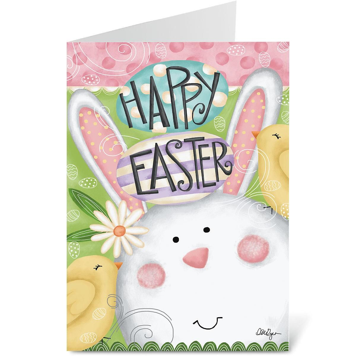 Happy Easter Bunny Card | Colorful Images