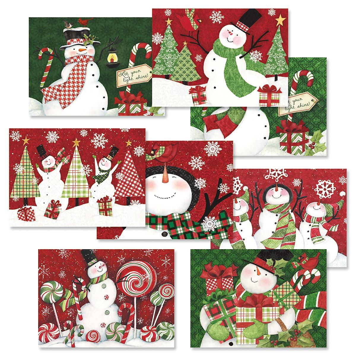 Snowman Christmas Cards Value Pack - All Occasion Cards - Notes and ...
