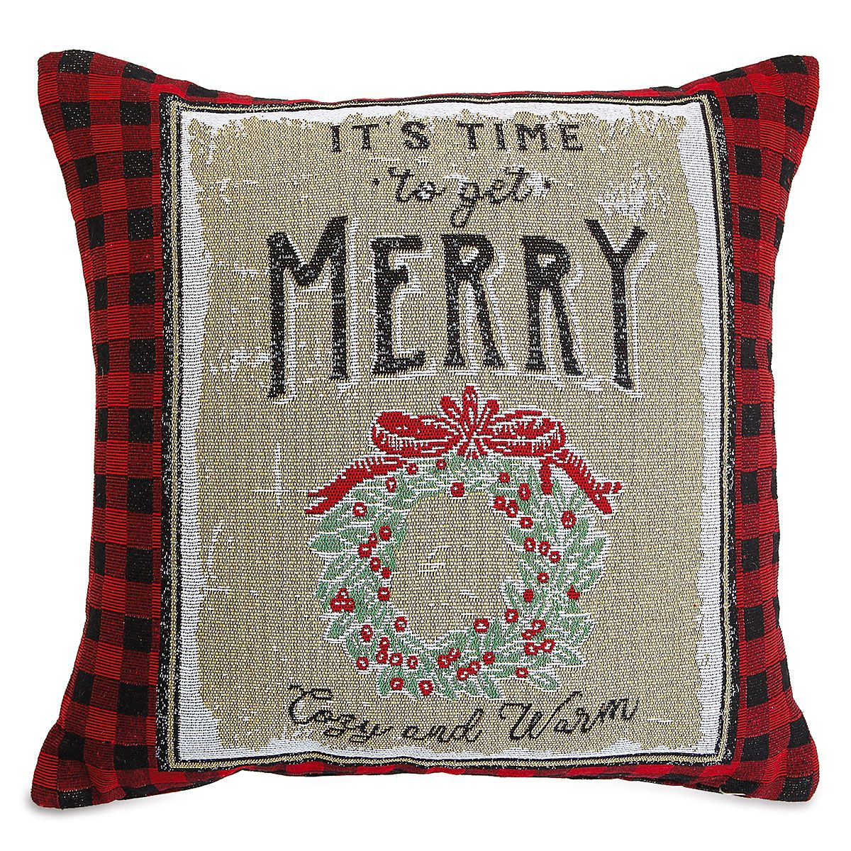 Get Merry Decorative Pillow