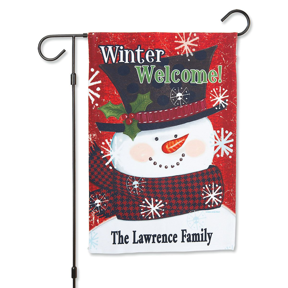 Winter Welcome Personalized Garden Flag