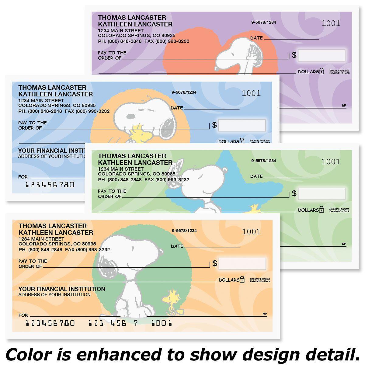 Snoopy™ & Woodstock Personal Premium Checks