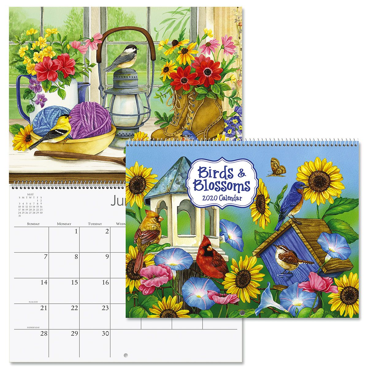 2020 Birds & Blossoms Wall Calendar