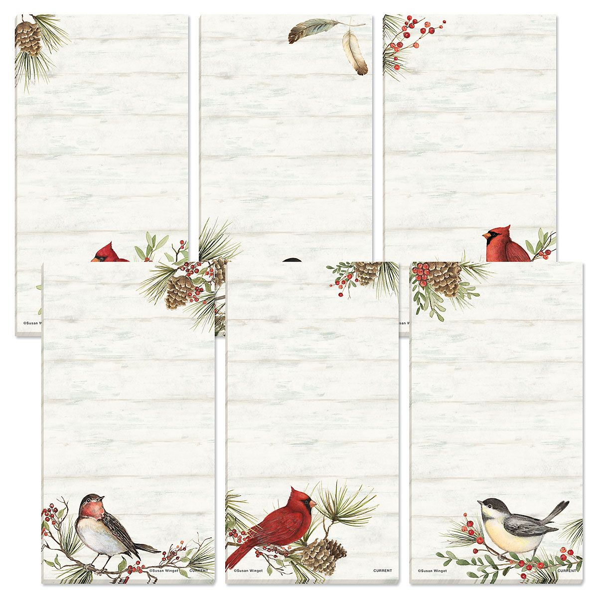 Magnetic Cardinal Woodland Shopping List Pads