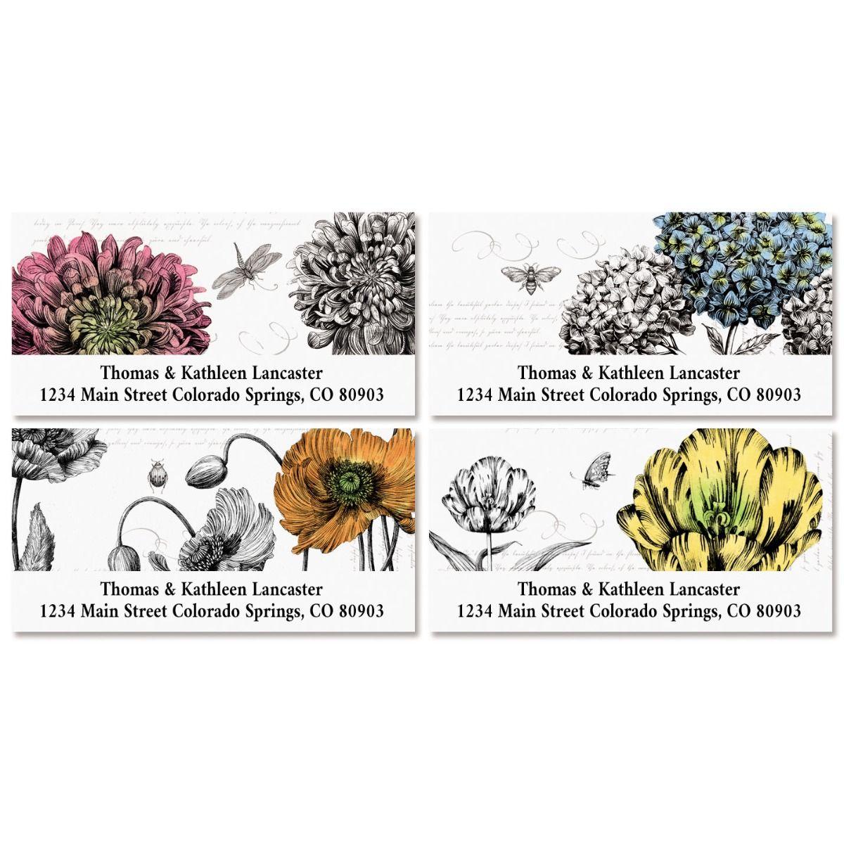 Botanical Deluxe Return Address Labels