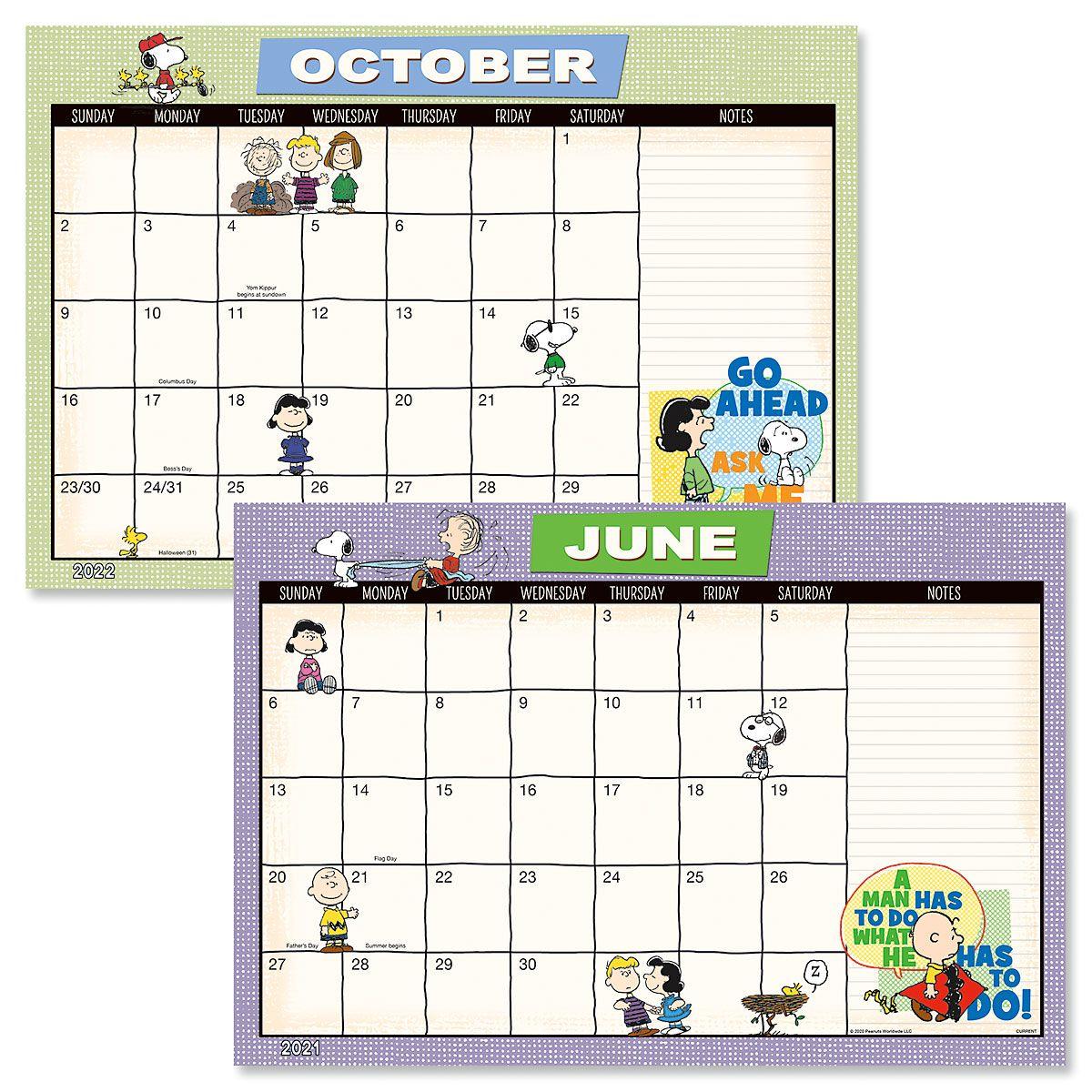 PEANUTS® Calendar Pad 2021 2022   Colorful Images