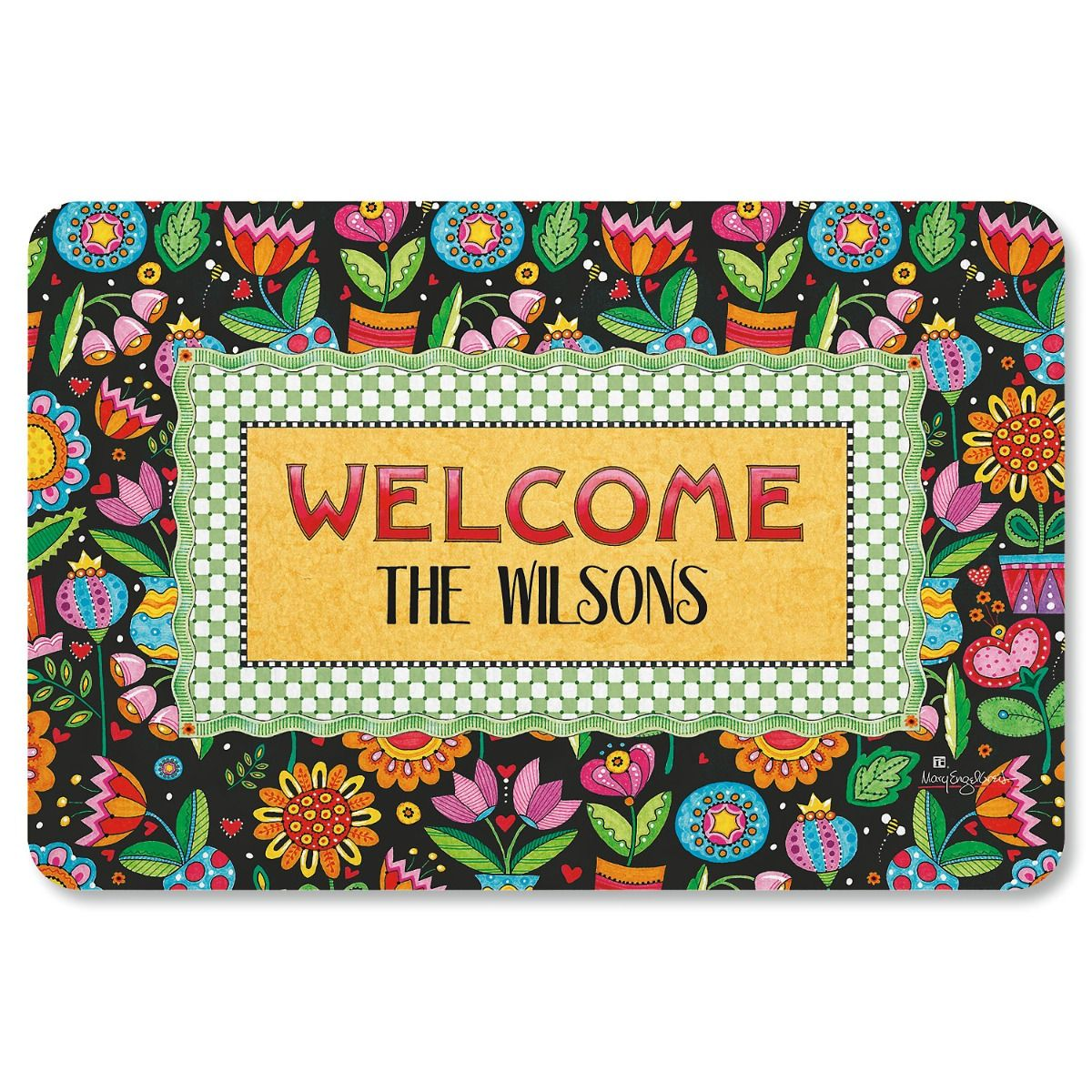 Mary Engelbreit® Custom Floral Welcome Mat