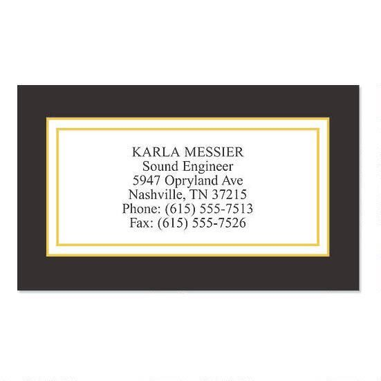 Black Classic  Business Cards