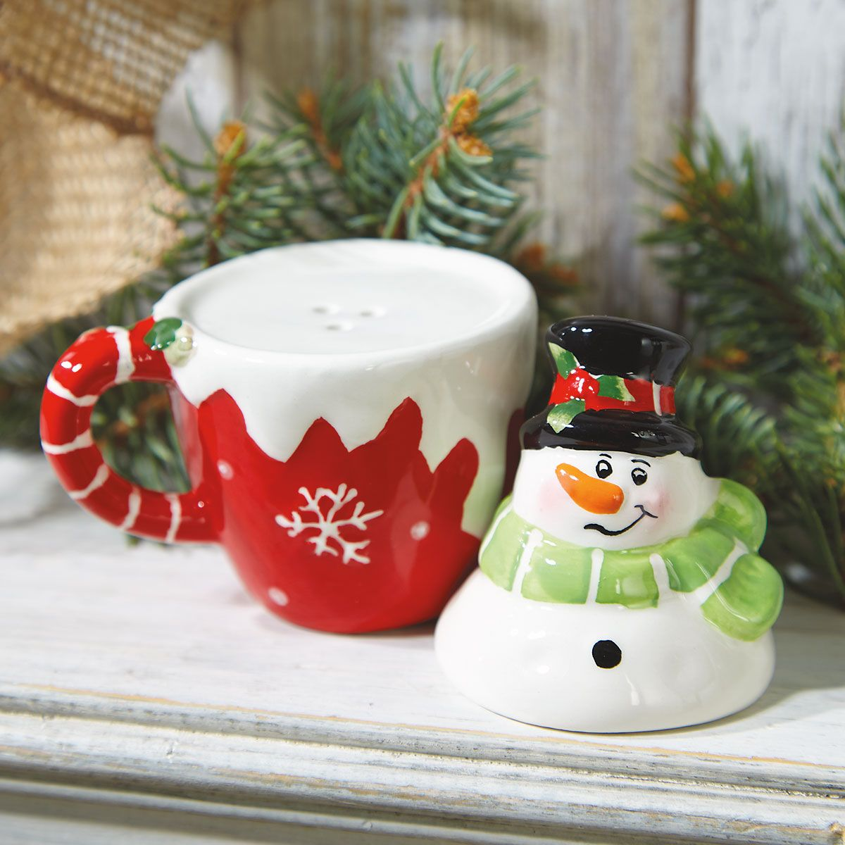 Stacking Snowman Salt & Pepper Shakers