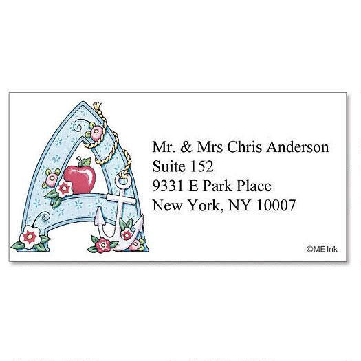 Mary Engelbreit® Initial Border Address Labels