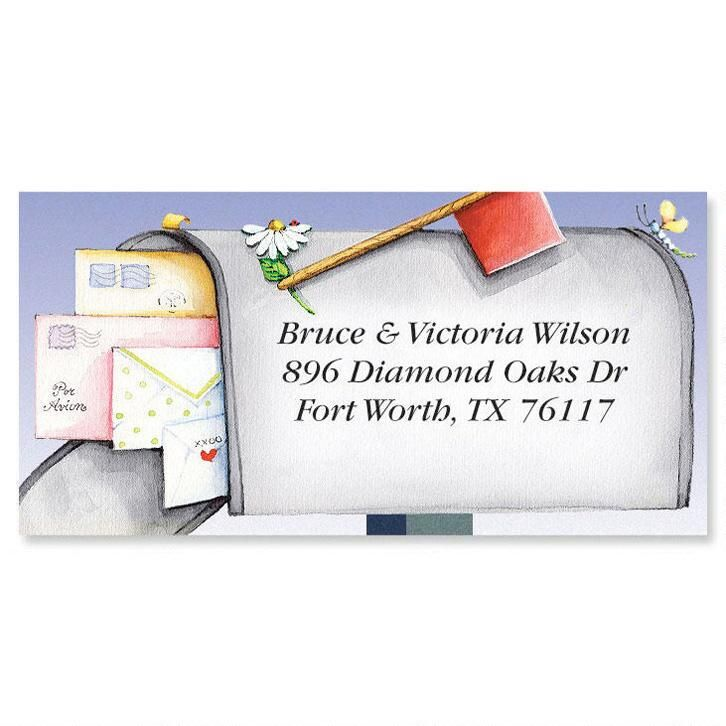 Keep in Touch Moving Border Return Address Labels