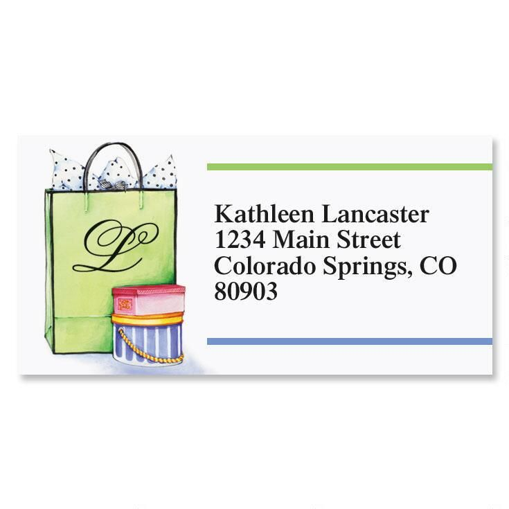 Especially For You Initial Border Return Address Labels