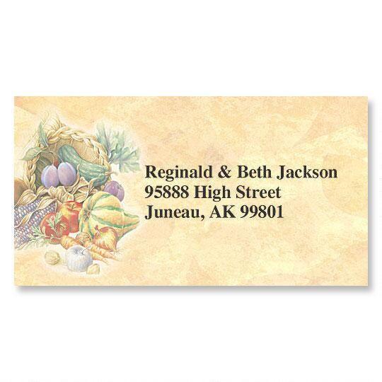 Plentiful Harvest Fall Border Return Address Labels