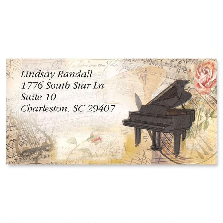 Sweet Melody Border Return Address Labels