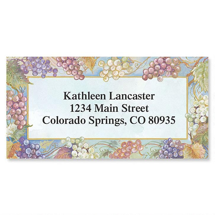 Bacchus Border Address Labels