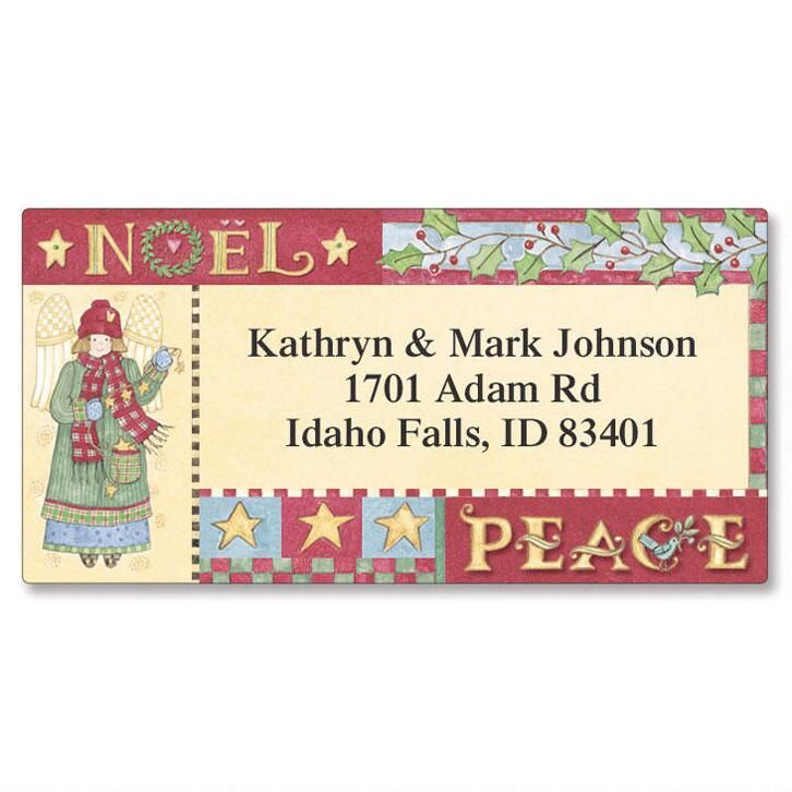 Country Border Address Labels