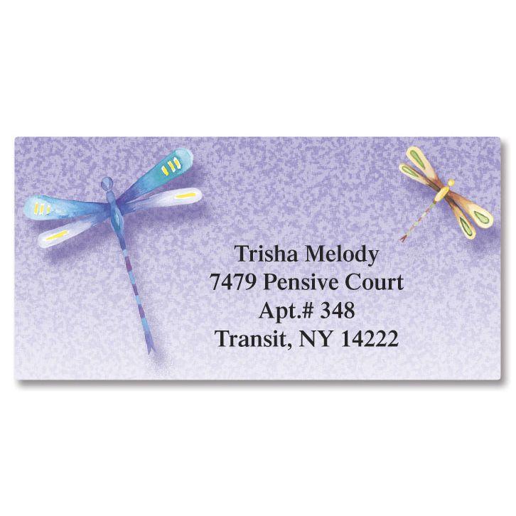 Dragonflies  Border Return Address Labels