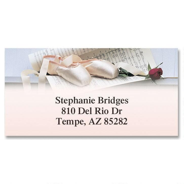 Ballet  Border Return Address Labels
