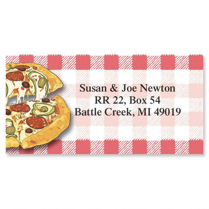 Slice of Pizza Border Return Address Labels