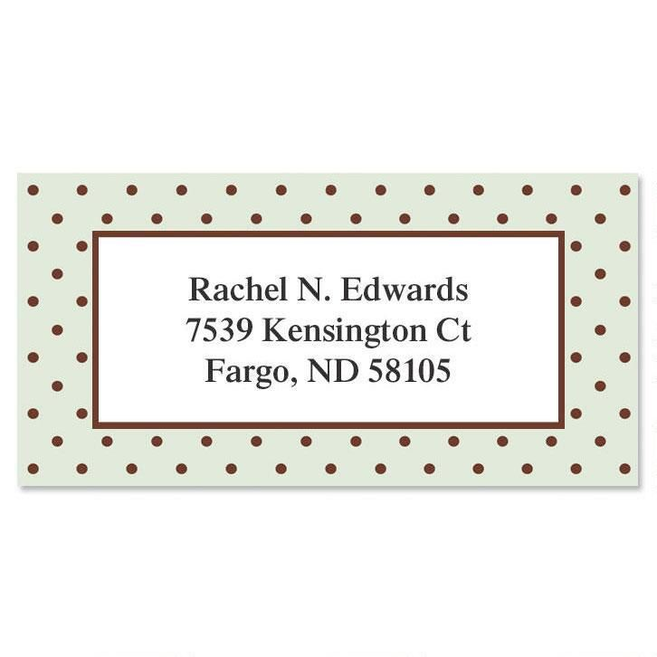 Celadon Border Address Labels