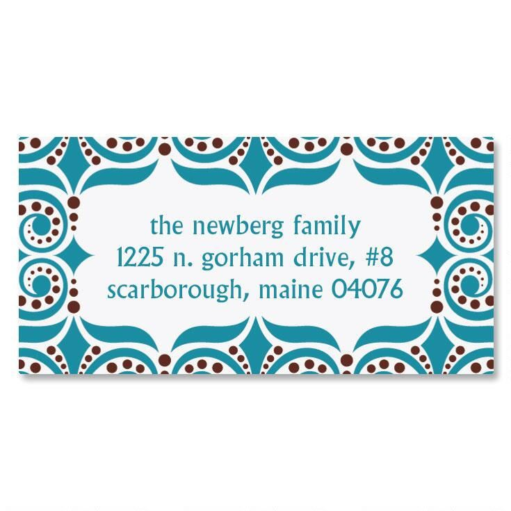 Improv Border Return Address Labels