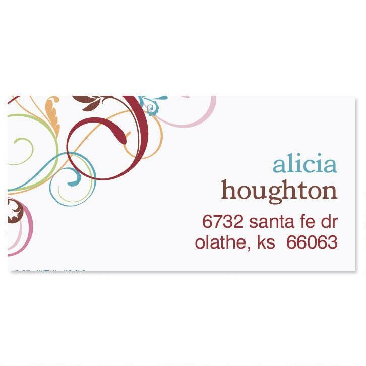 Fantasia Border Address Labels