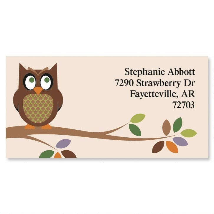 Owl Border Return Address Labels