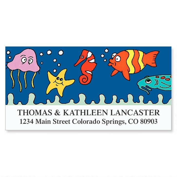 Under the Sea Deluxe Address Labels