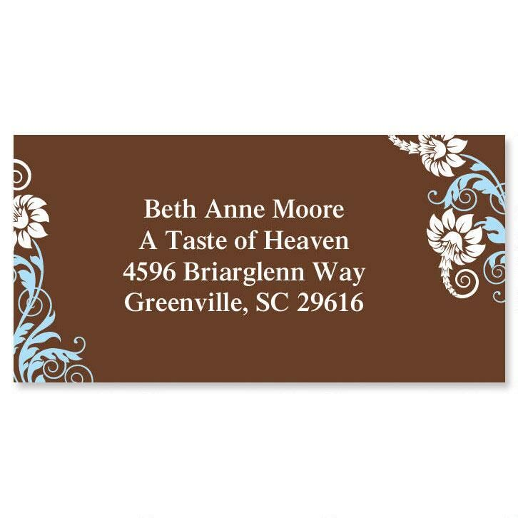 Chocolate Whimsy Border Return Address Labels