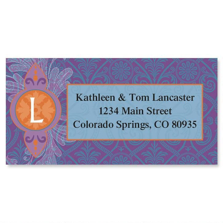 Empress Initial Border Return Address Labels