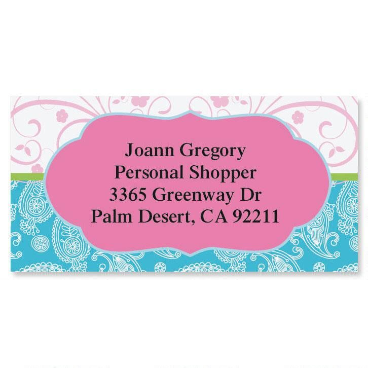 Pampered Paisley Border Address Labels