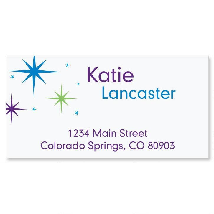 Star Struck Border Address Labels