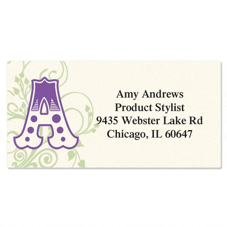 Deluxe Letters Initial Border Address Labels