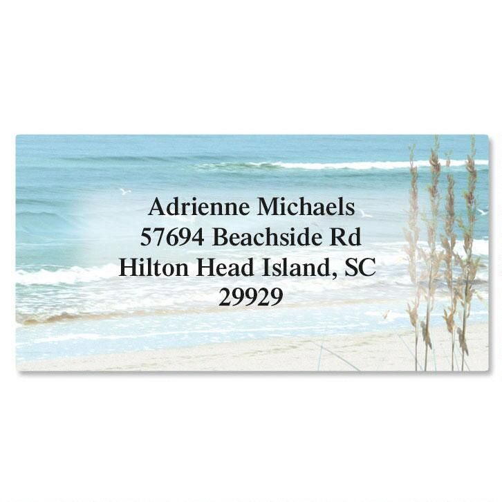 Seashore  Border Address Labels
