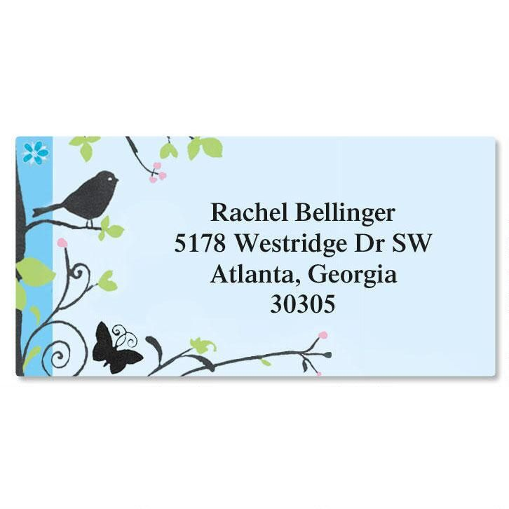 Songbird  Border Return Address Labels