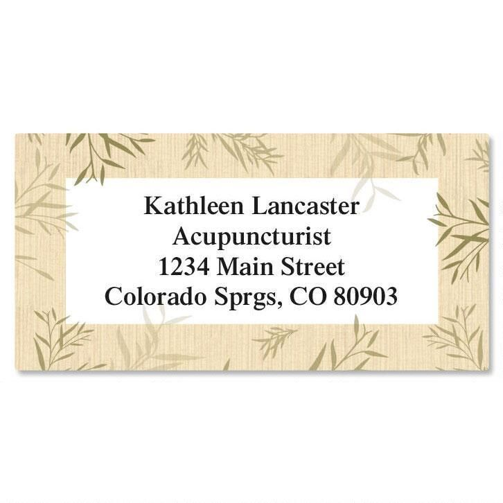 Bamboo  Border Address Labels
