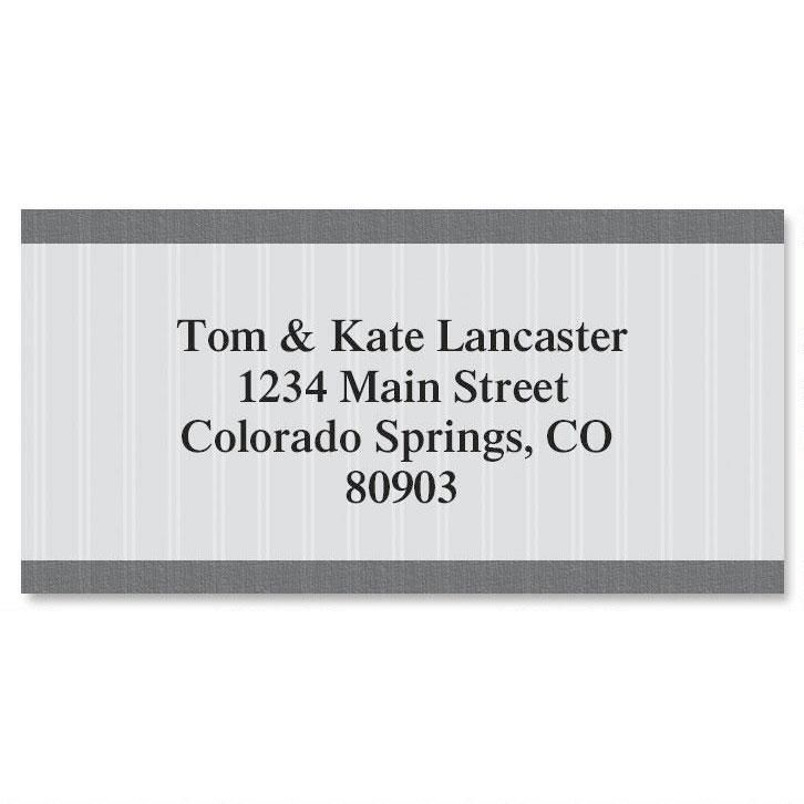 Pinstripe Border Return Address Labels