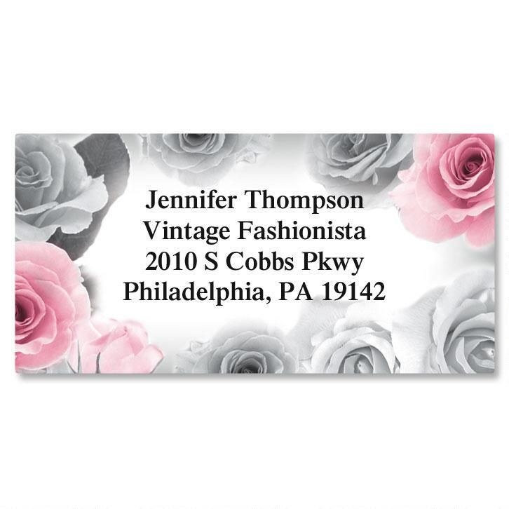 First Blush Border Return Address Labels