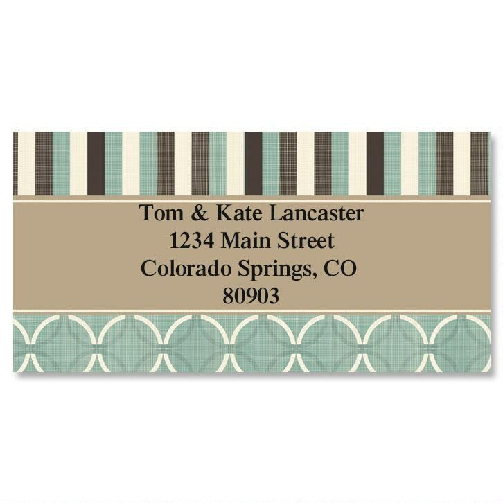 Connected Border Return Address Labels