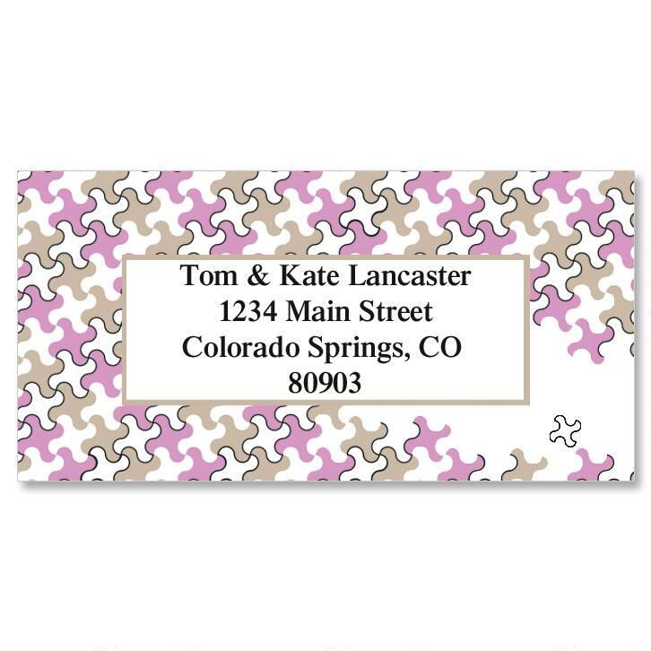 Houndstooth  Border Address Labels