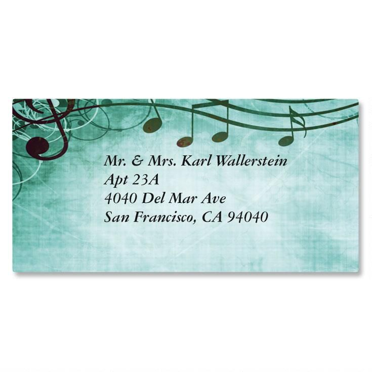 Sheet Music Border Return Address Labels