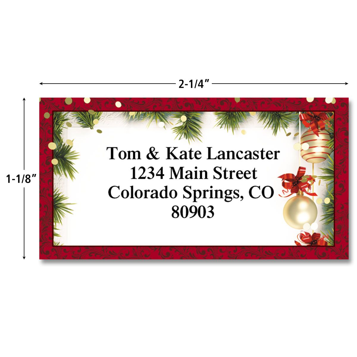 Christmas Twilight Border Return Address Labels