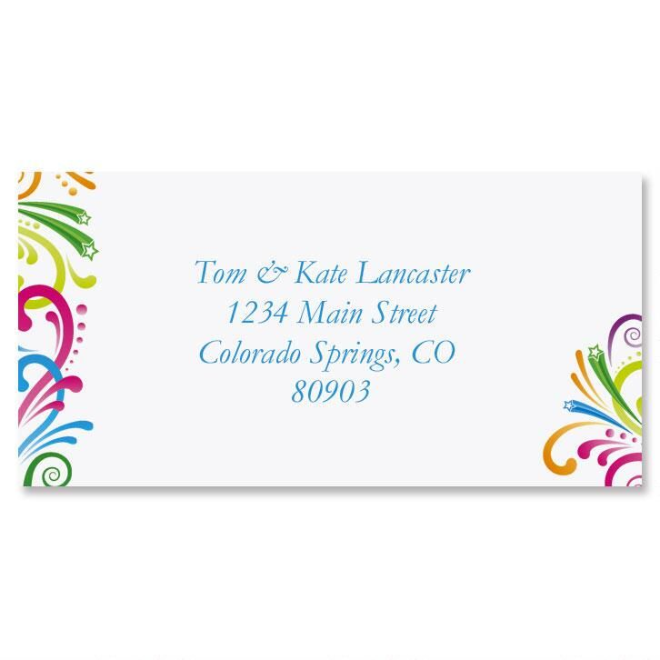Party Spirit Border Return Address Labels