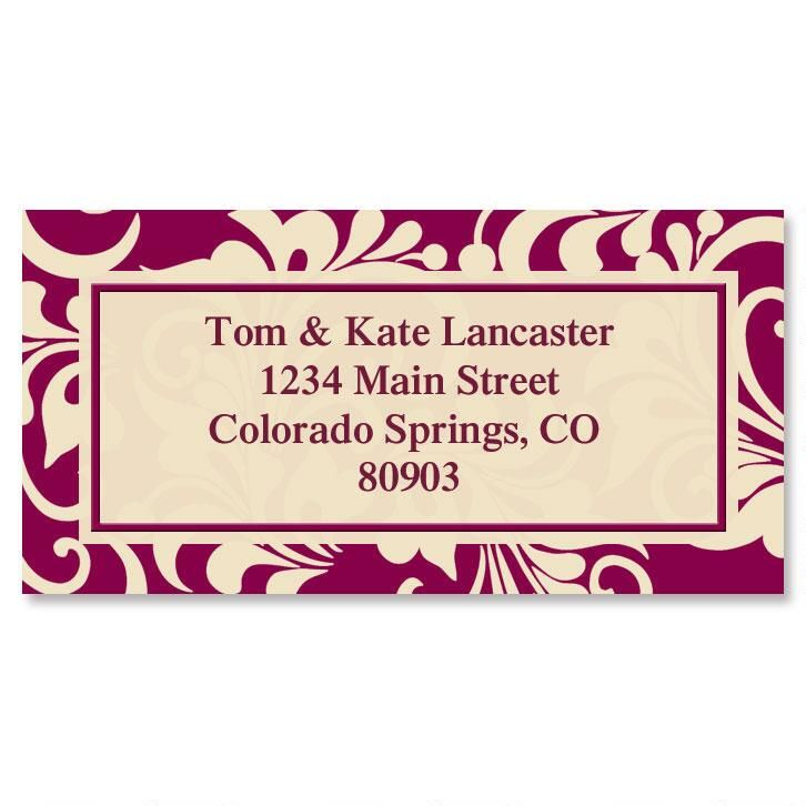 Glamorama Border Address Labels