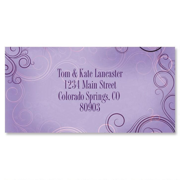 Vogue Border Return Address Labels