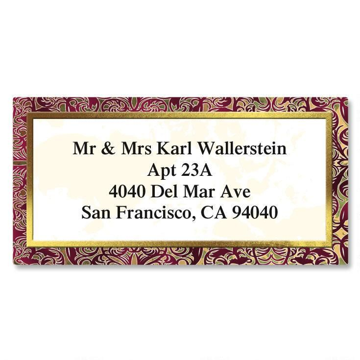 Marquetry Border Return Address Labels