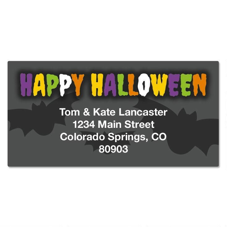 Spellbound Halloween Border Return Address Labels
