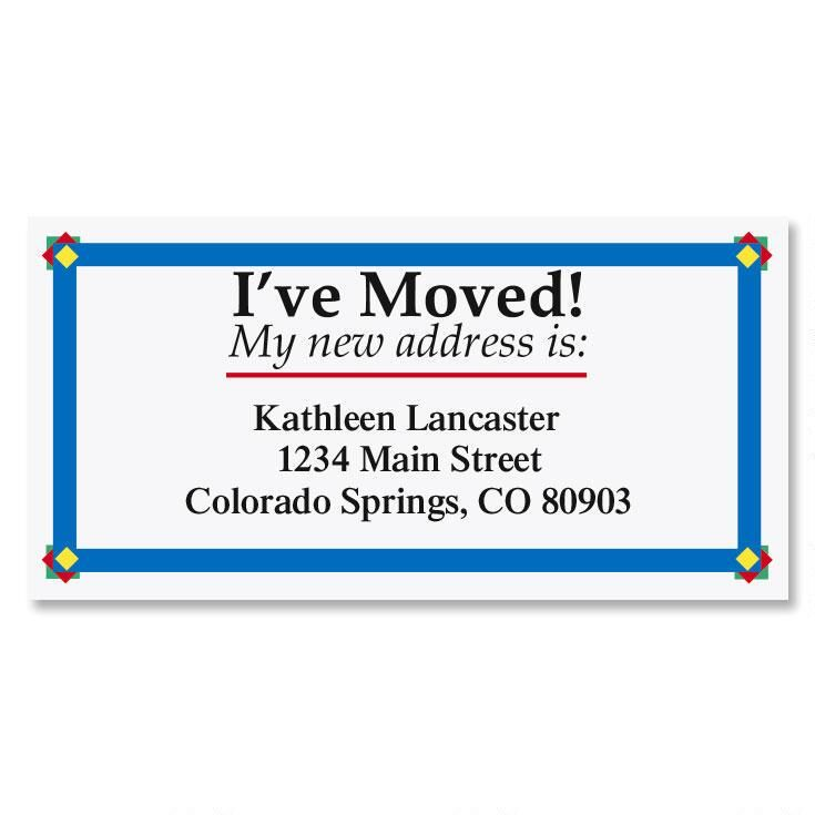 I've Moved Border Return Address Labels