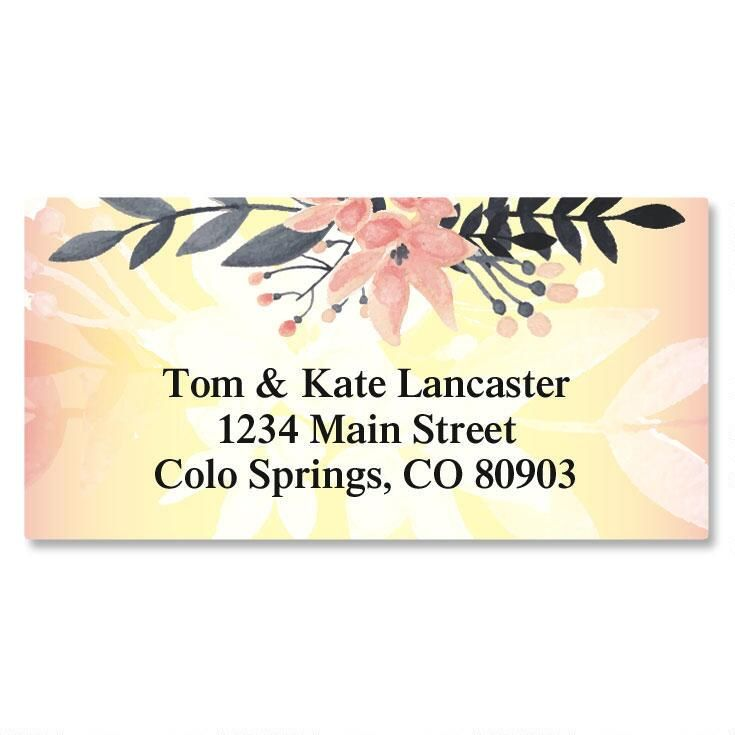 Delicate Branch Border Return Address Labels