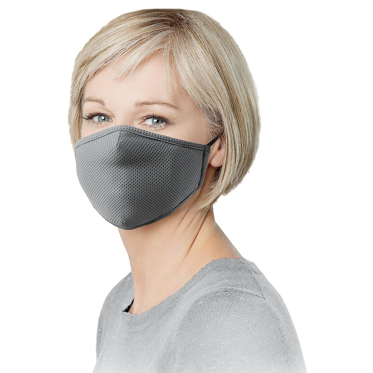 Gray Reusable Face Mask & Replacement Filters