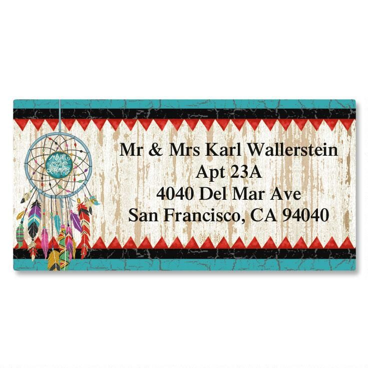 Dreamcatcher Border Return Address Labels